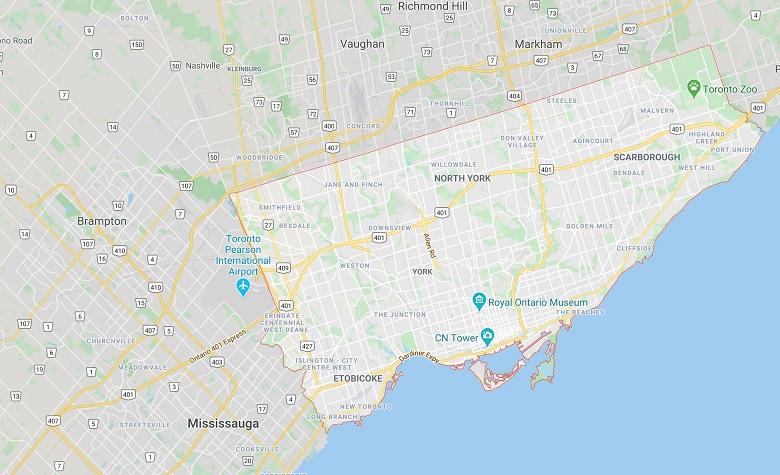 نقشه تورنتو