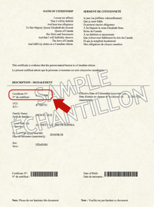 گواهی یا کارت تابعیت کانادا