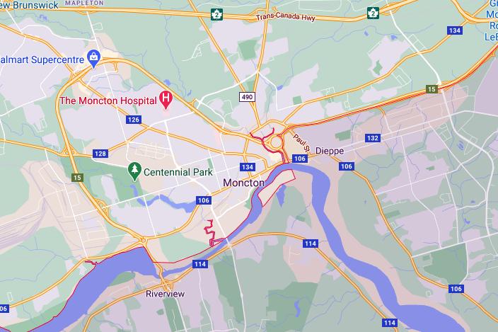 نقشه شهر مونکتون