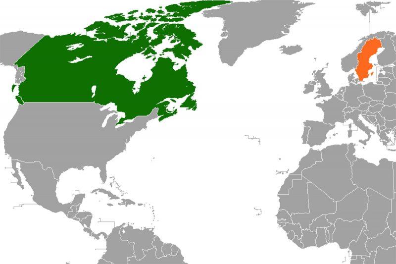 مقایسه سوئد و کانادا از نظر جغرافیایی