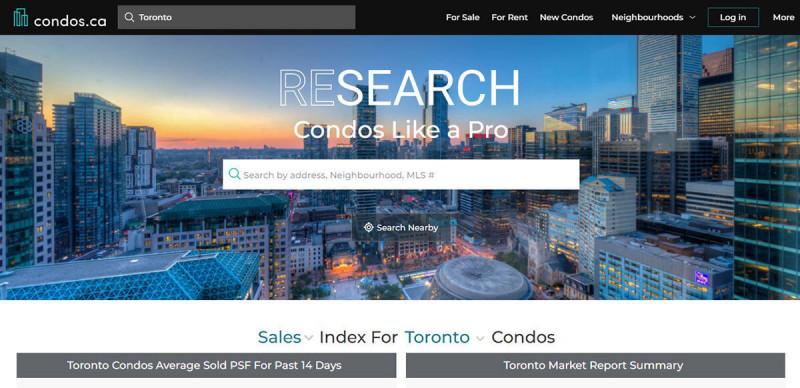 سایت Condos.ca برای اجاره خانه در کانادا