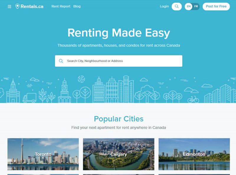 سایت Rentals.ca برای اجاره خانه در کانادا