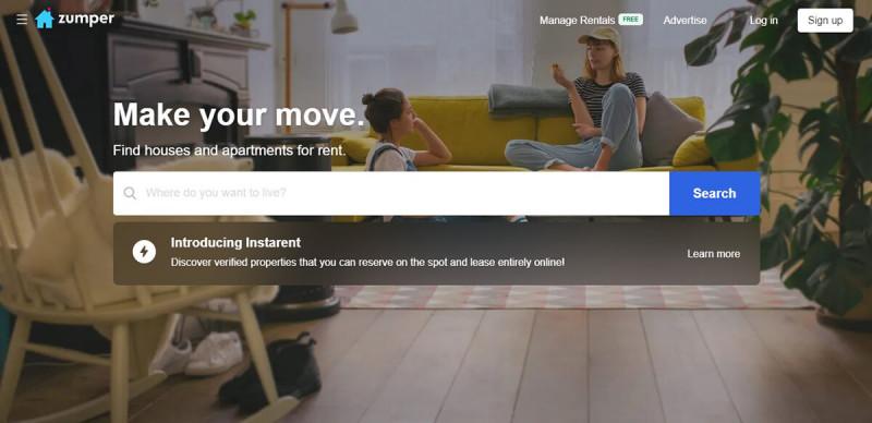 سایت Zumper.com برای اجاره خانه در کانادا