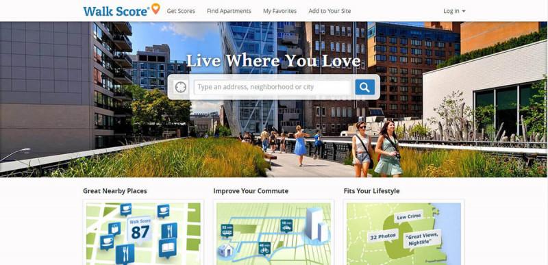 سایت WalkScore.com برای اجاره خانه در کانادا