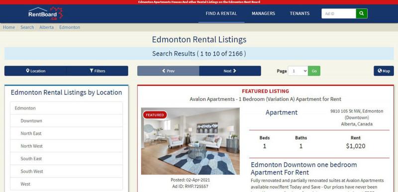 سایت RentBoard.ca برای اجاره خانه در کانادا