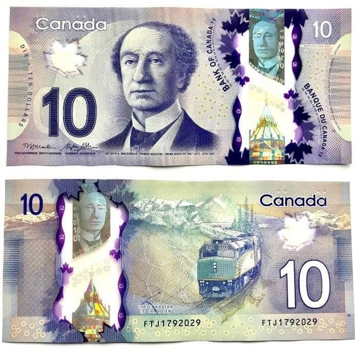 اسکناس 10 دلاری کانادا