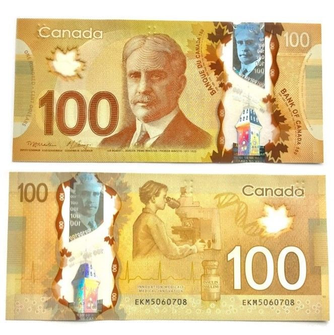 اسکناس 100 دلاری کانادا